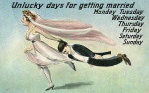 Неудачные дни для женитьбы